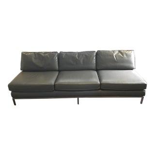 1960s Vintage Edward Wormley for Dunbar Leather Sofa For Sale