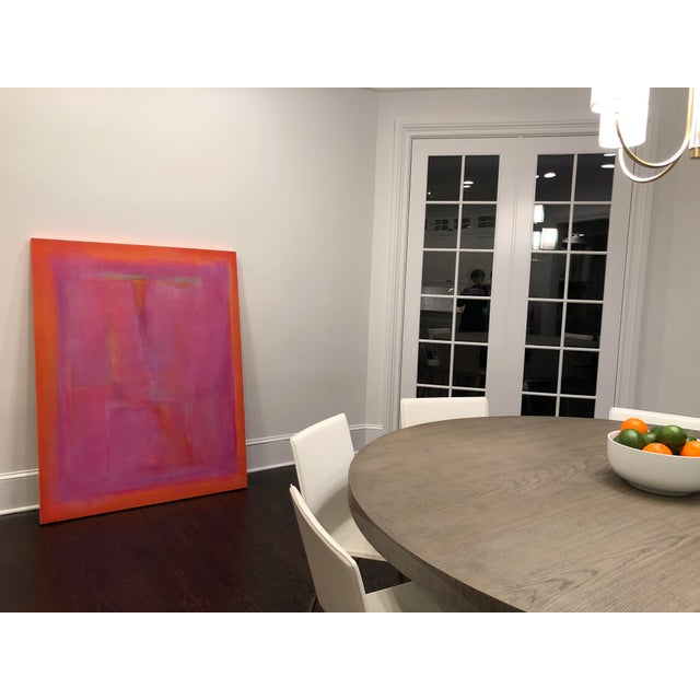 2010s Kat Evans Vibrant Abstract Painting For Sale - Image 5 of 7