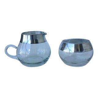 Dorothy Thorpe Sterling Creamer & Sugar - A Pair For Sale