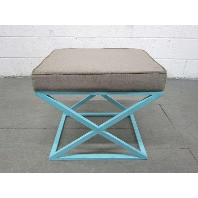 Pair of X-Benches For Sale - Image 4 of 7