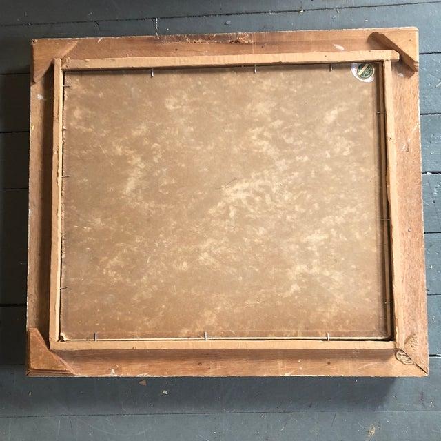 Vintage Modernist Original Tabletop Still Life Painting Carved Wood Frame For Sale - Image 4 of 5