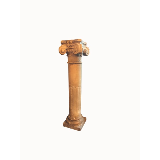 Tan 1940 French Cement Column For Sale - Image 8 of 8
