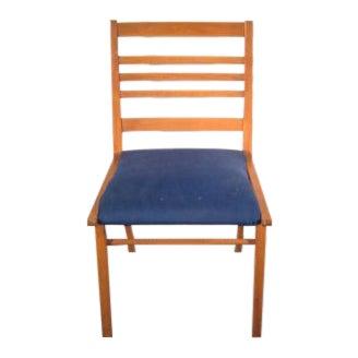 Danish Modern Ladder Back Arm Chair For Sale