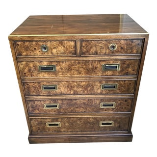Drexel Heritage Burl Cabinet For Sale