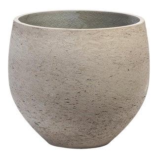 Round Cement Modern Planter For Sale