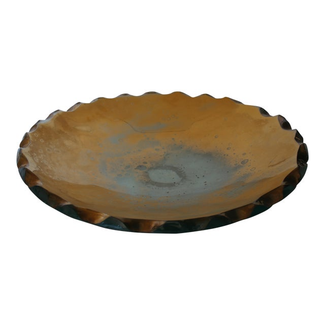 Bronze Gilded Raw Edge Bowl Attb: DAnny Lane For Sale