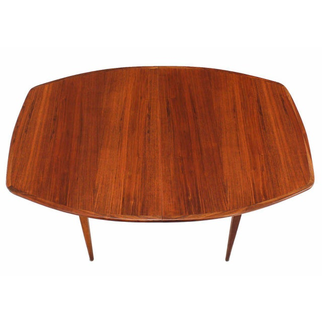 Mid-Century Modern Oiled Walnut Dining Table with Two Extension Board Leaves For Sale - Image 3 of 9