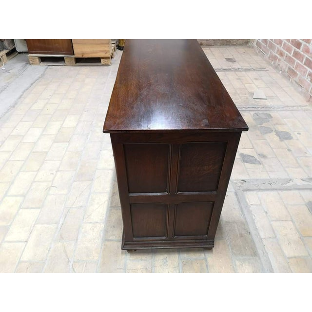 Early 20th C. French Country Oak Sideboard Credenza Buffet Server For Sale - Image 12 of 13