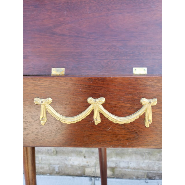 Antique French Mahagony Petite Games Table For Sale - Image 11 of 13
