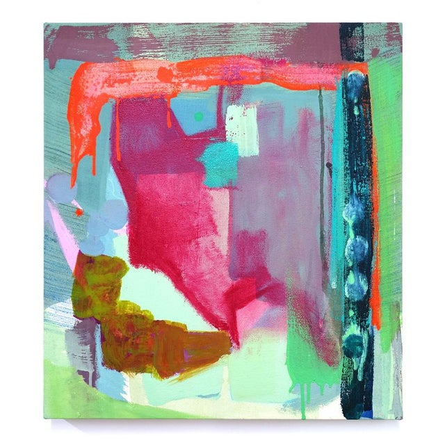 """Molly Herman Molly Herman """"Spectral Envelope"""" Small Abstract Painting For Sale - Image 4 of 4"""