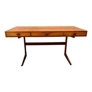 Danish Modern Teak Cantilever Writing Desk For Sale