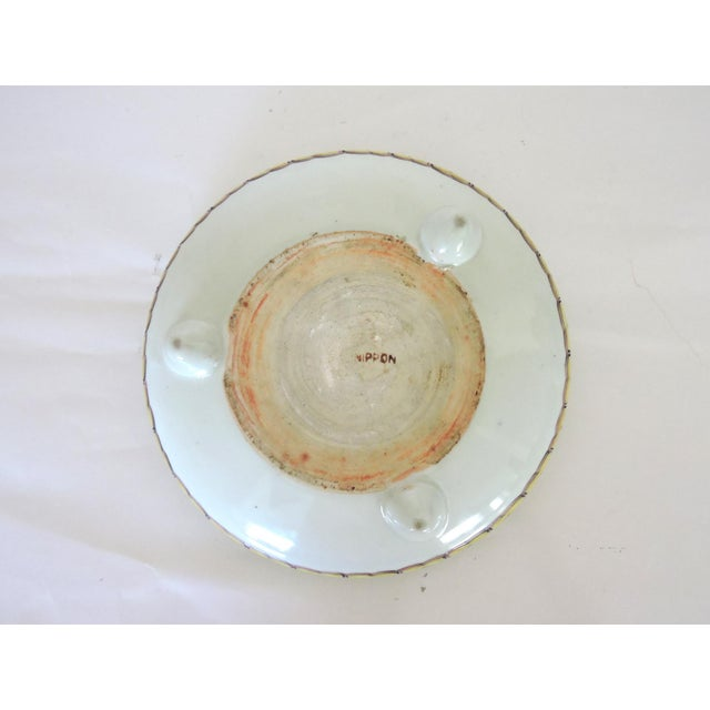 Early 20th Century Antique Export Japanese Yellow and Black Chrysanthemum Porcelain Bowl For Sale - Image 5 of 6