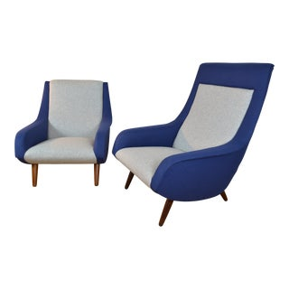 Rare Pair of Danish Modern Lounge Chairs by Bengt Ruda for Esa Møbelværk For Sale