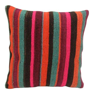 Striped Handmade Pillow Cover For Sale