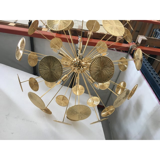 Early 21st Century Gold Metal Frame Sputnik Chandelier For Sale - Image 6 of 11