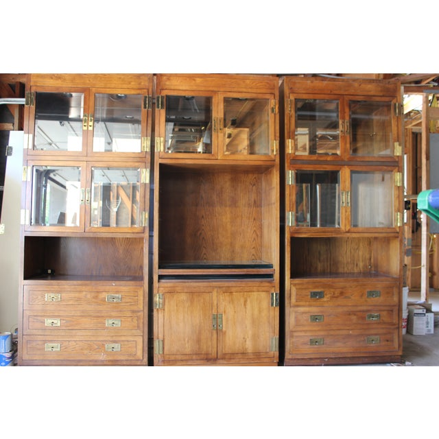 Henredon Scene 1 Campaign Cabinets - Image 5 of 5