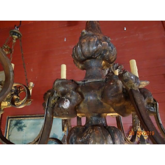 18th Century Italian Tassel Chandelier For Sale - Image 9 of 12