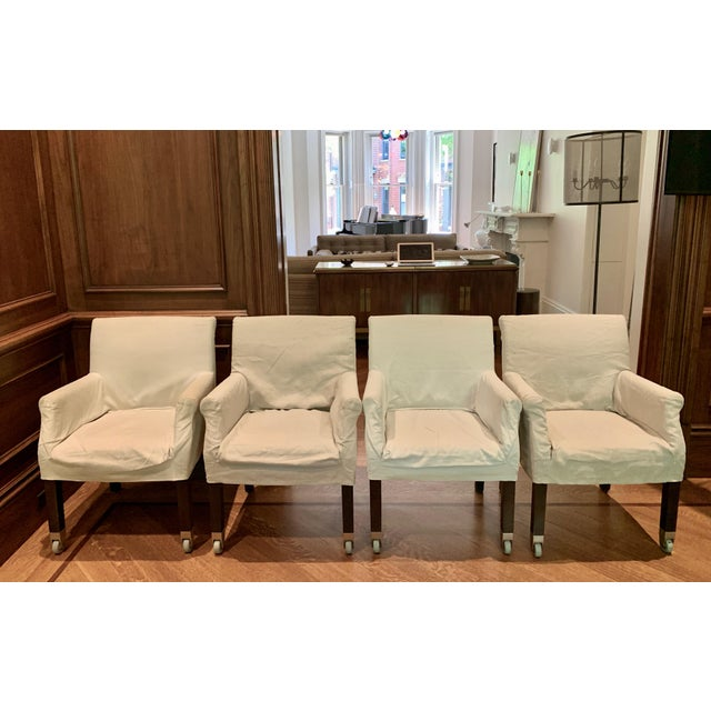 White Flexform Pausa Chairs- Set of 4 For Sale - Image 8 of 8