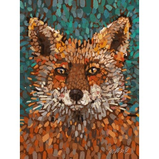 """Fox. Giclee Print 11x15"""" on Watercolor Textured Paper. For Sale"""