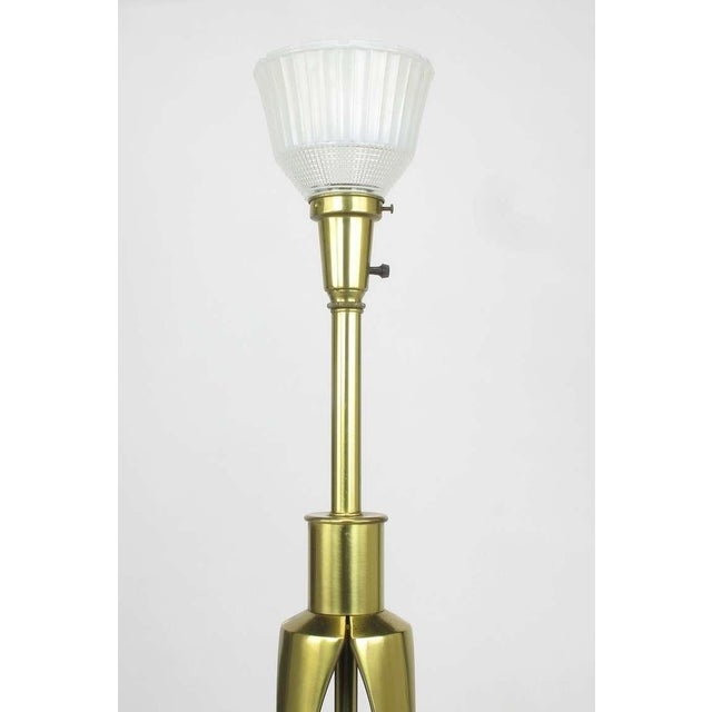 Rembrandt Lamp Company Rembrandt Brass & Azure Blue Table Lamp For Sale - Image 4 of 8