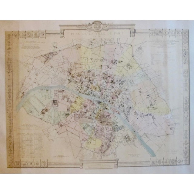 About The Poster: This incredibly detailed and distinctive map of Paris was printed in 1887 for the municipal council of...