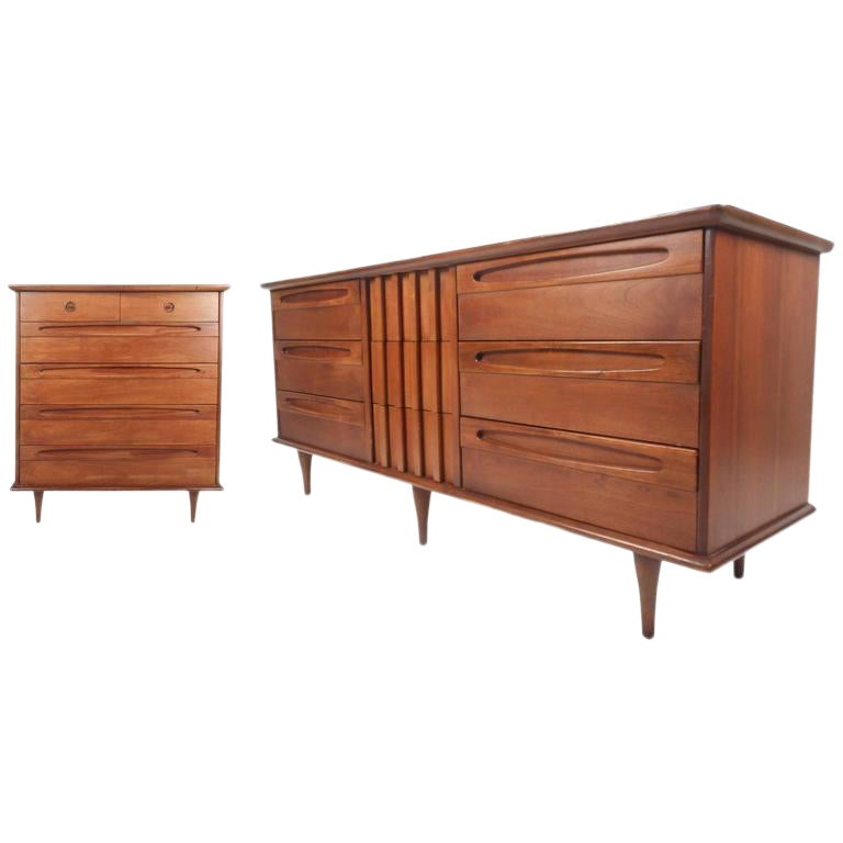 Unique Mid Century Modern Bedroom Set By American Of Martinsville Chairish