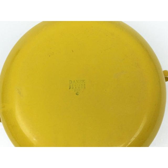 Vintage Modern Kobenstyle Dansk Yellow Enamel Pot - Image 3 of 5