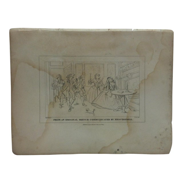 """Antique Rare Original Engraving, """"From an Original Sketch Communicated by Mess Boydell"""" by John Hogarth, circa 1840 For Sale"""