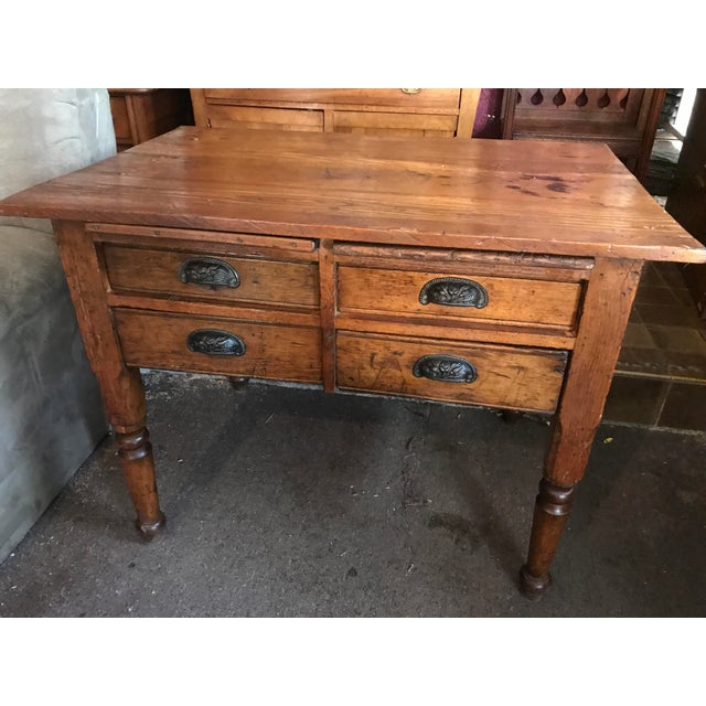 Antique Oak Feed Table For Sale - Image 4 of 8