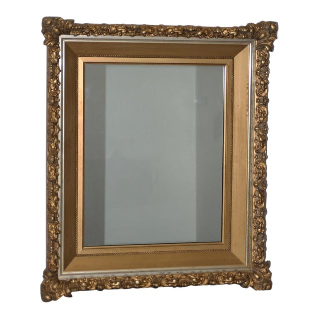 Elaborate 19th Century Carved & Gilded Frame with Mirror C.1890s For Sale