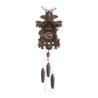 Swiss Made Black Forest Style Cuckoo Clock For Sale