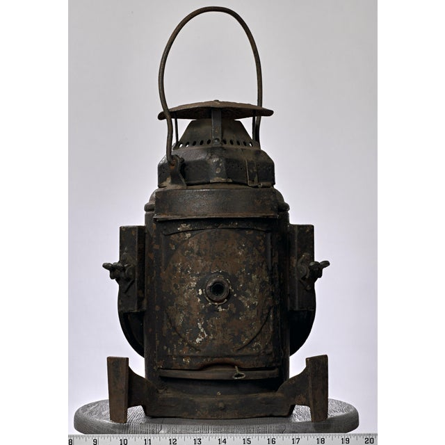 19th Century Industrial Adlake Rare Railroad Switching Light/Lantern For Sale - Image 4 of 13
