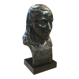 "1950 Plaster Bust of a Woman - Signed Rcg "" Speed"""