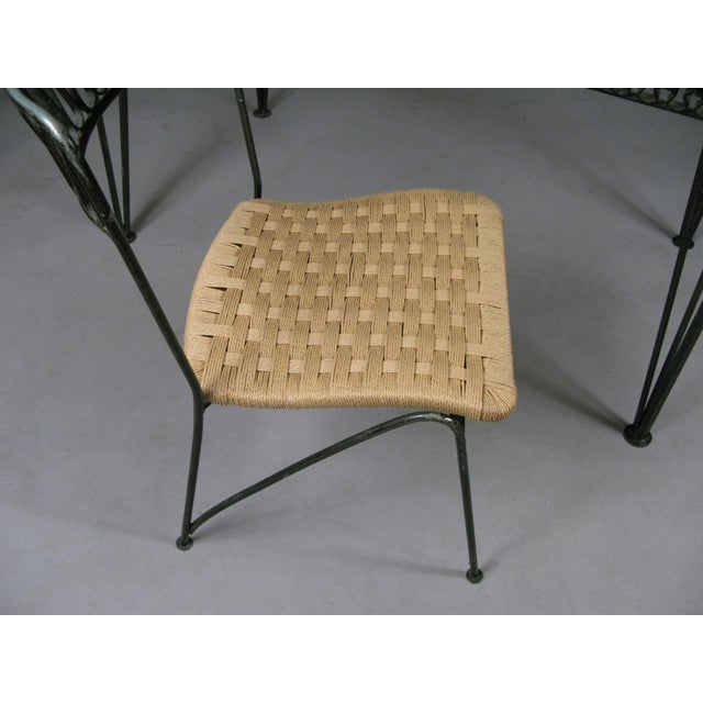 1950s Vintage Tempestini Wrought Iron Desk and Chair For Sale In New York - Image 6 of 8