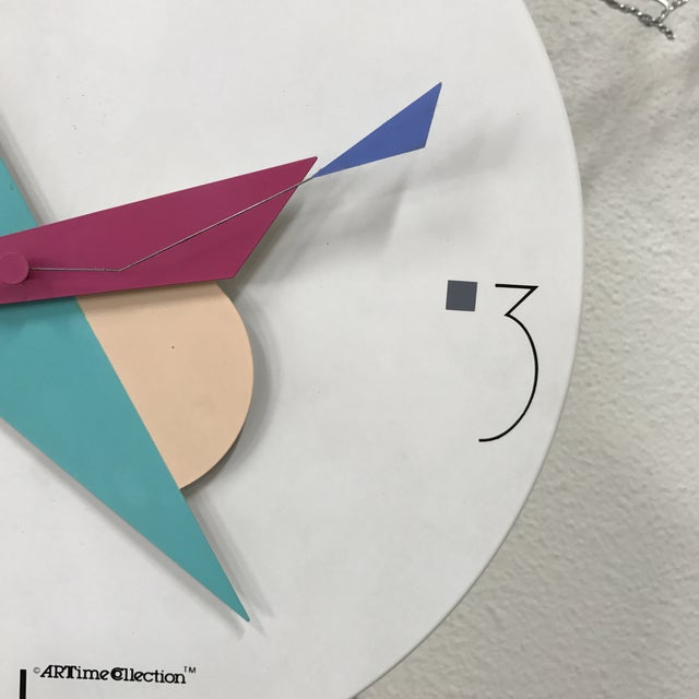 Canetti Modern Wall Clock For Sale - Image 9 of 11