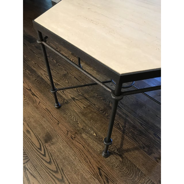 Metal Modern Giacometti Style Hexagonal Center Table For Sale - Image 7 of 9