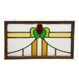 20th Century Vintage Arts and Crafts Stained Glass Window For Sale