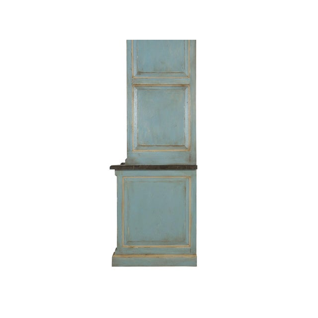 Swedish Gustavian Style Blue Painted Bookshelf Cabinet Bookcase by Lillian August For Sale - Image 12 of 13