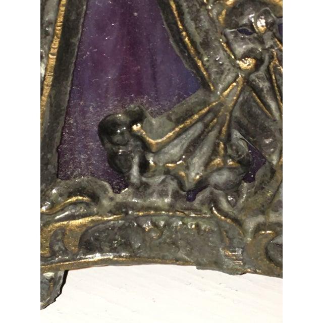Art Nouveau Deco Slag Glass Lamp - Image 9 of 10
