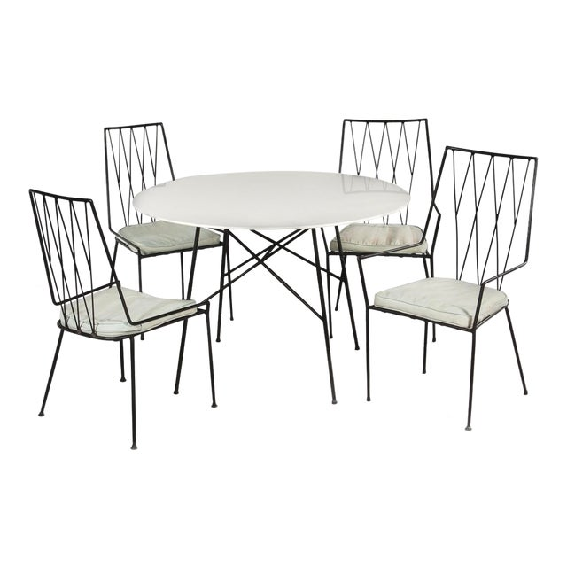 Paul McCobb Pavilion Collection Table and 4 Chairs For Sale