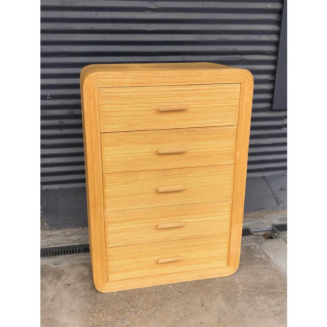 Vintage Pencil Reed Rattan Chest of Drawers For Sale - Image 13 of 13
