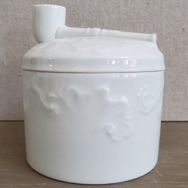 Limoges French Porcelain Tobacco Jar For Sale - Image 11 of 11