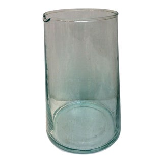 Blown Recycled Glass Moroccan Carafe For Sale
