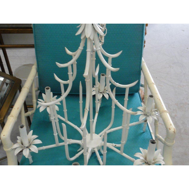 Faux Bamboo Pagoda Chandelier - Image 6 of 10