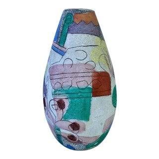 1980s Vintage Post Modern Colorful Vase For Sale