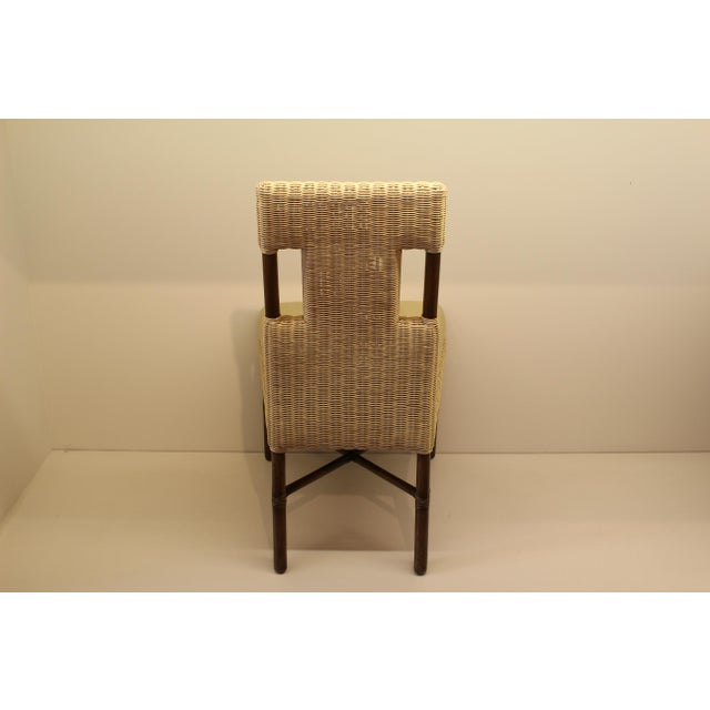 McGuire Thomas Pheasant Woven Core Dining Side Chair - Image 5 of 5