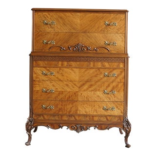 20th Century French Provincial Tall Chest of Drawers For Sale