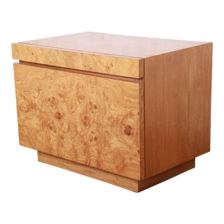 Burl Wood Nightstand By Lane For