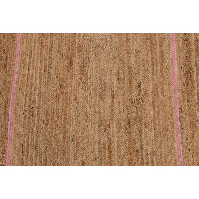 Light Pink Scallop Jute Light PInk Hand Made Rug - 2'x3' For Sale - Image 8 of 9