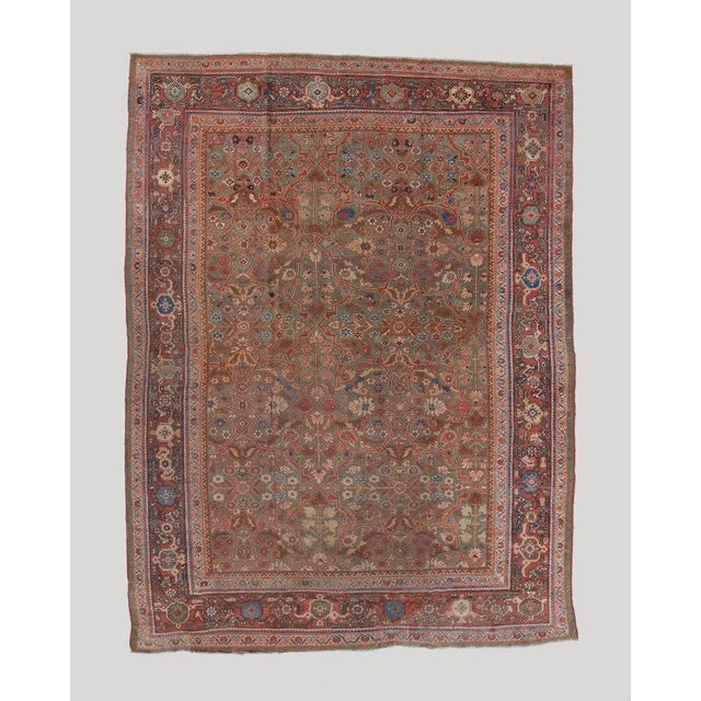 Late 19th Century Olive Ground Mahal Carpet For Sale - Image 5 of 5